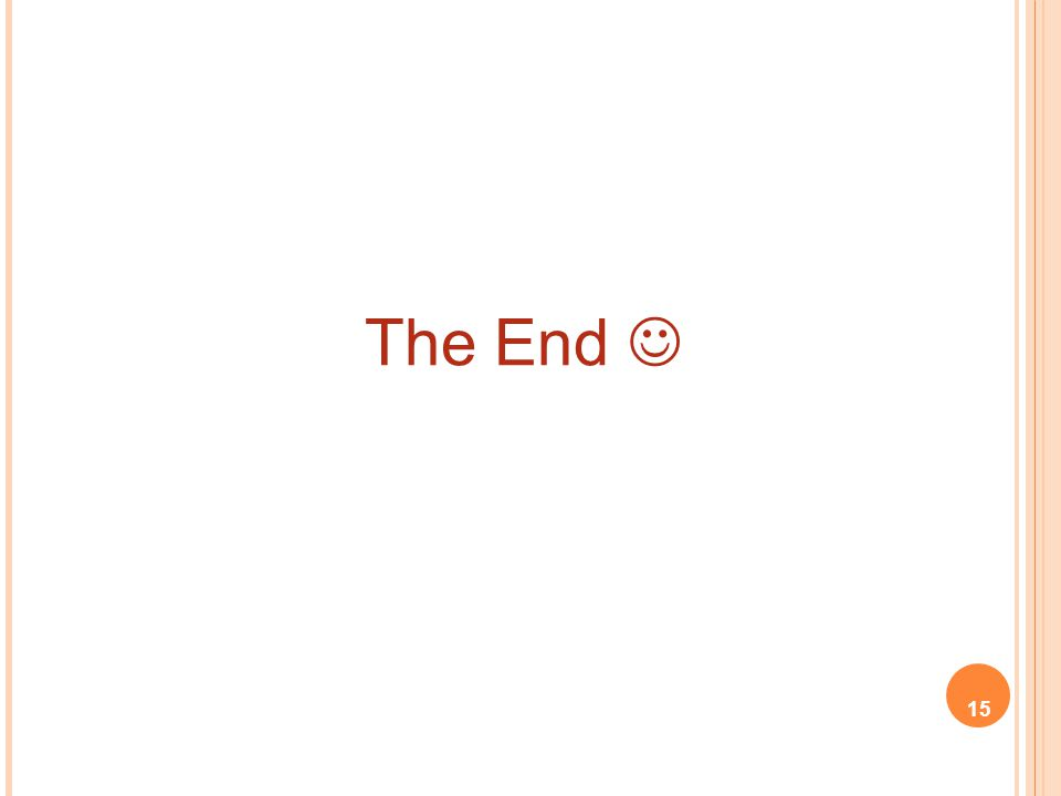 The End  15