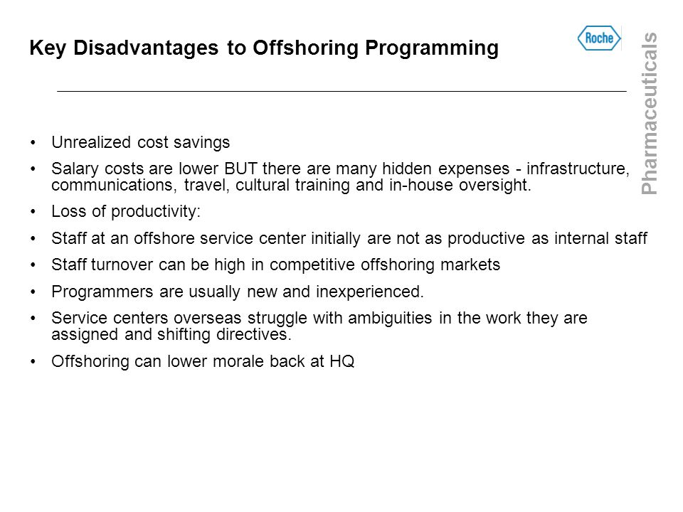 Key Disadvantages to Offshoring Programming