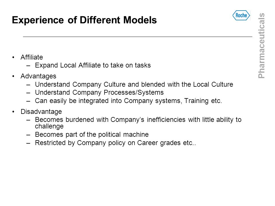 Experience of Different Models