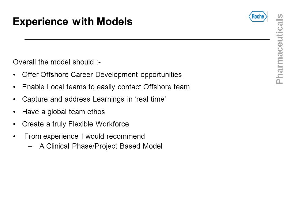 Experience with Models