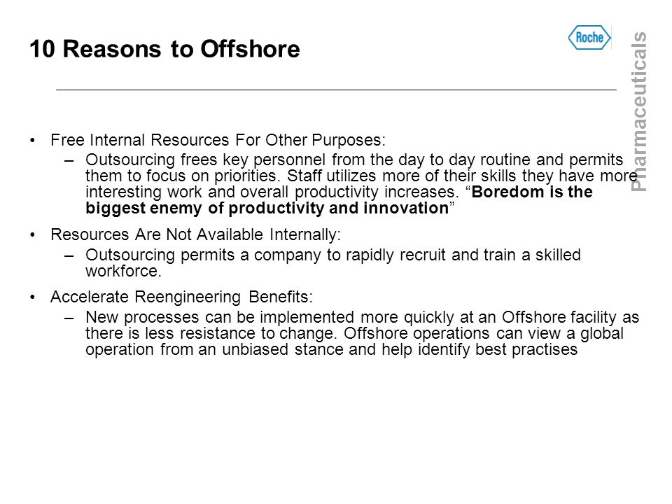 10 Reasons to Offshore Free Internal Resources For Other Purposes: