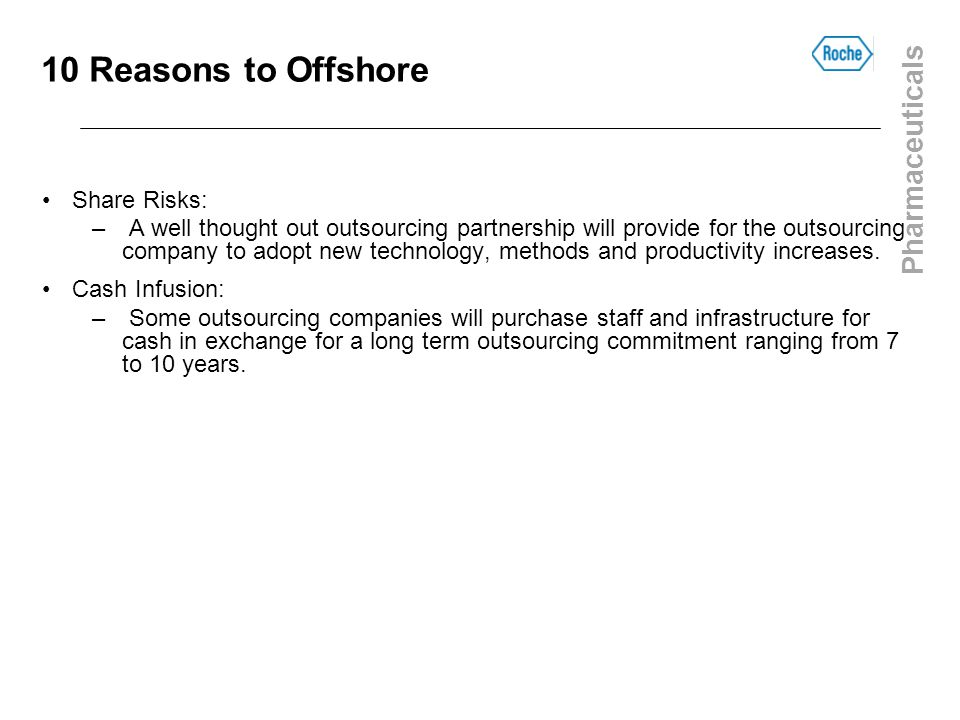 10 Reasons to Offshore Share Risks: