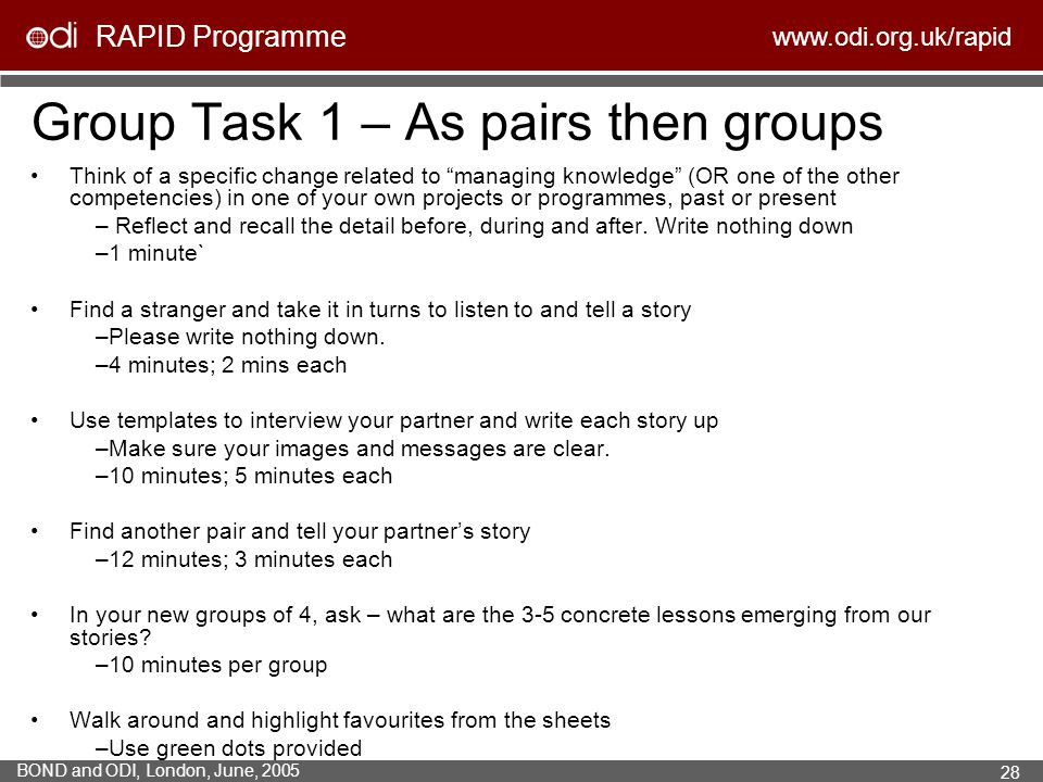 Group Task 1 – As pairs then groups