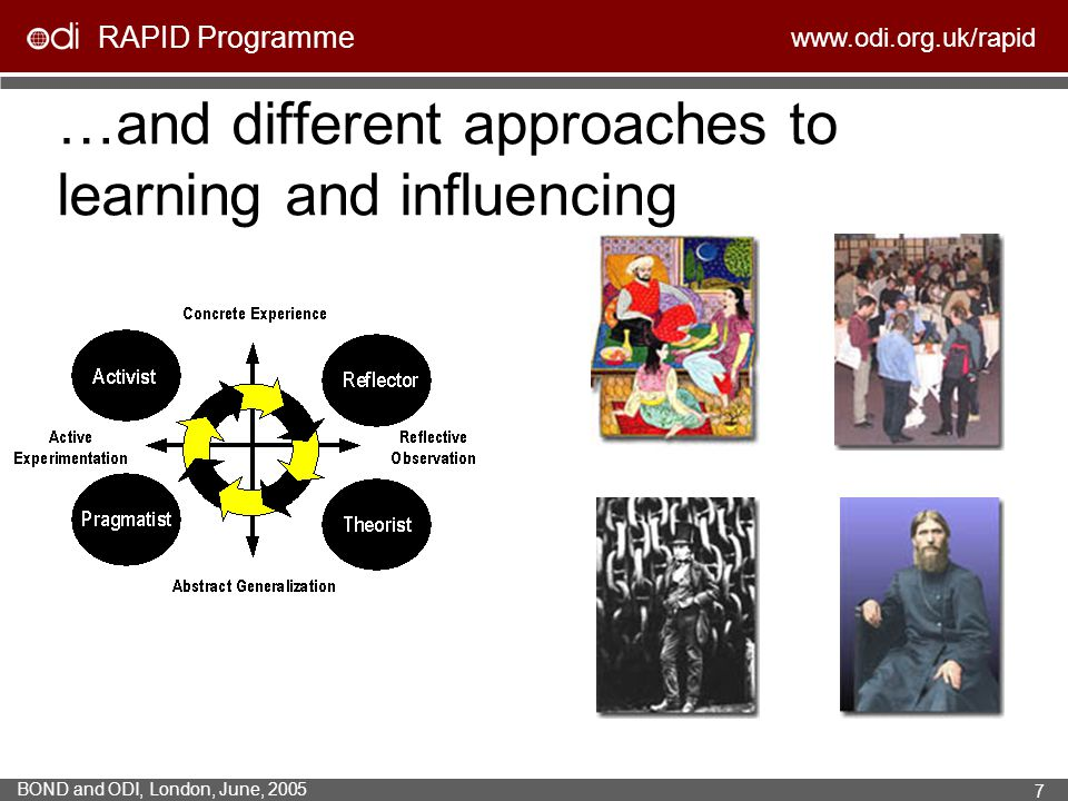 …and different approaches to learning and influencing