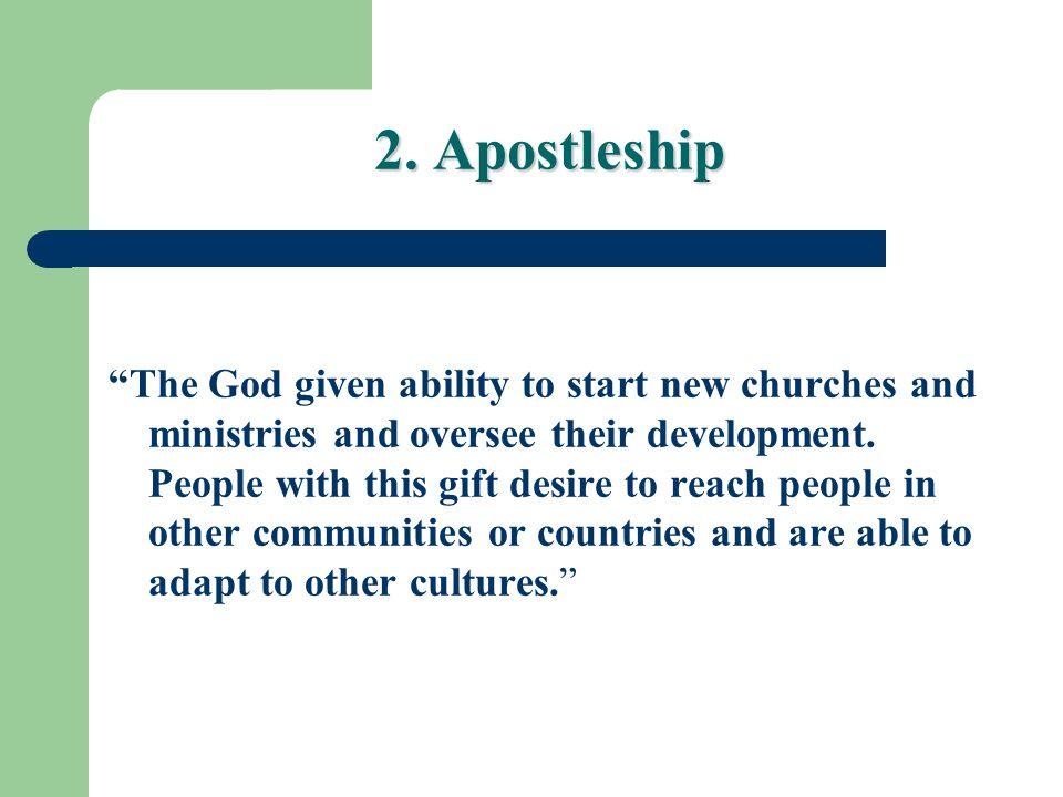 2. Apostleship