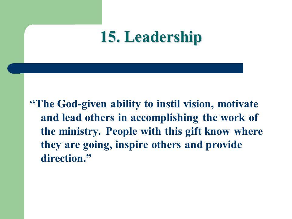 15. Leadership