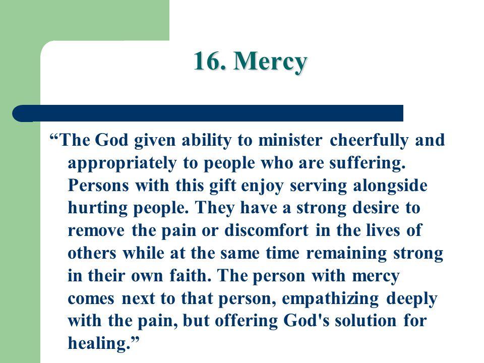 16. Mercy