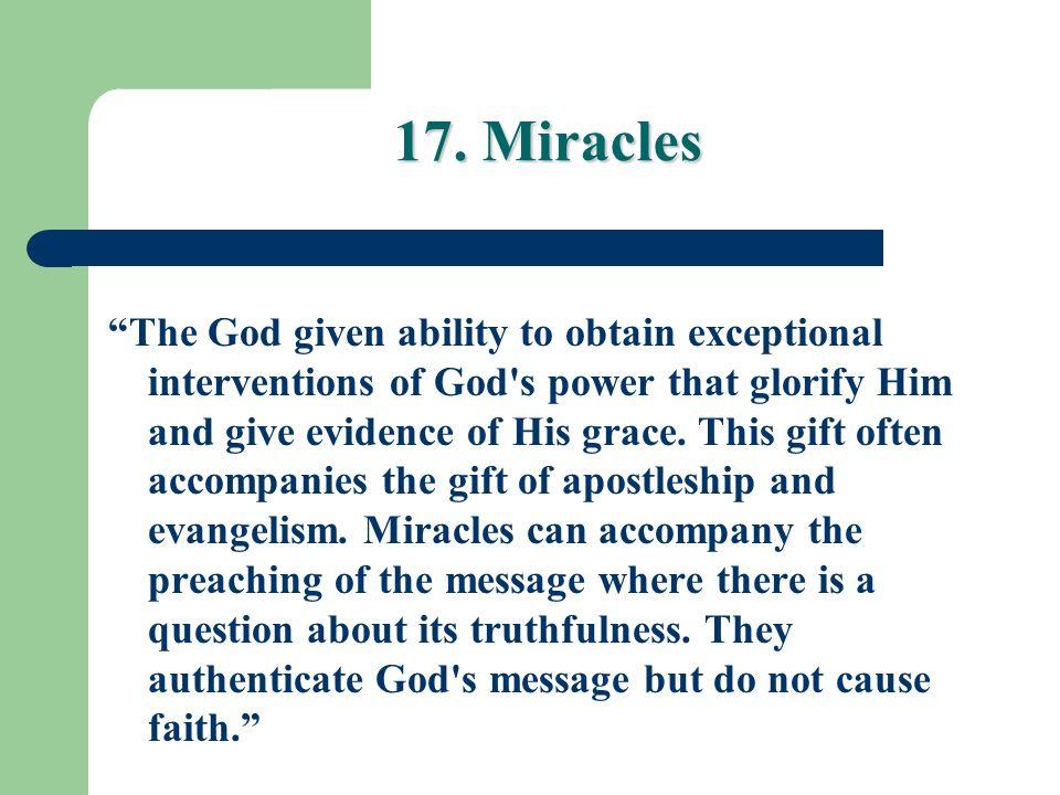 17. Miracles