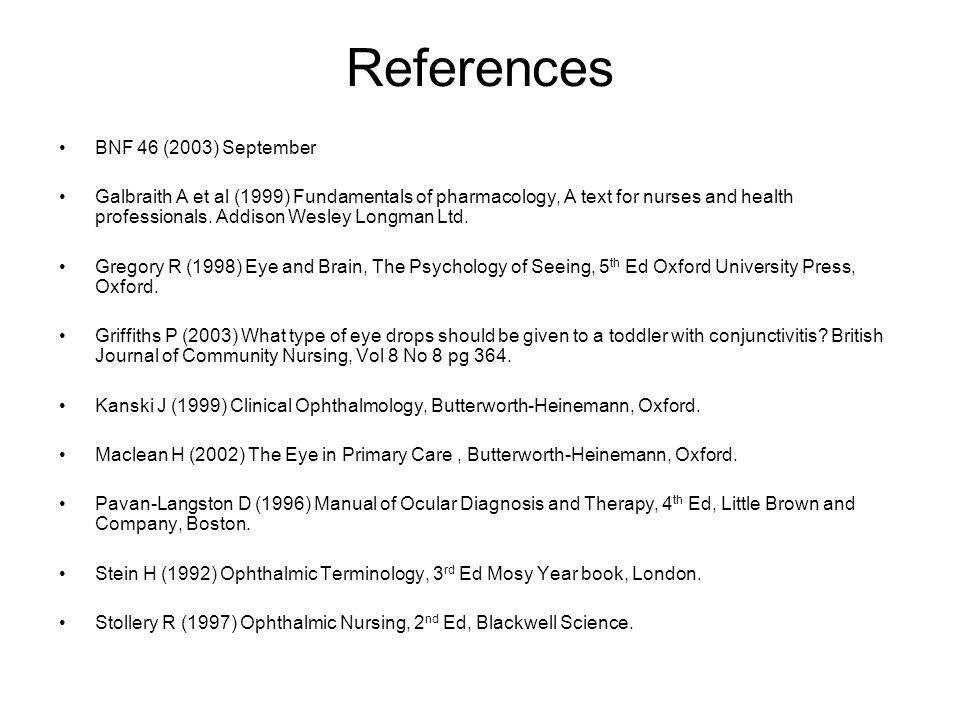 References BNF 46 (2003) September