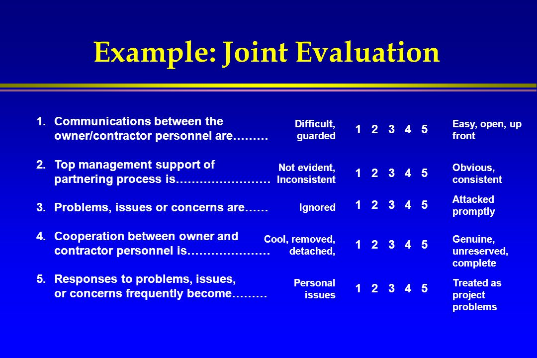 Example: Joint Evaluation