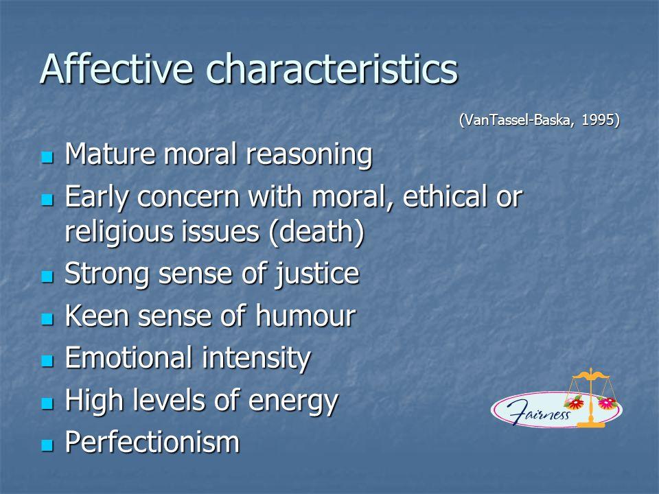 Affective characteristics