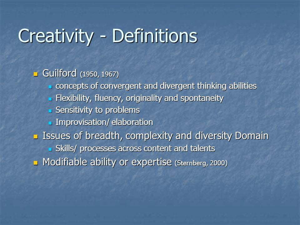 Creativity - Definitions