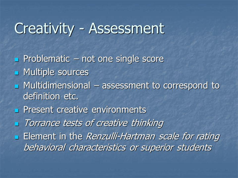 Creativity - Assessment