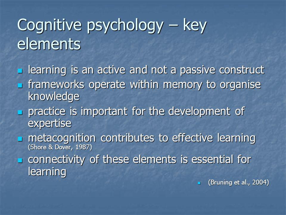 Cognitive psychology – key elements