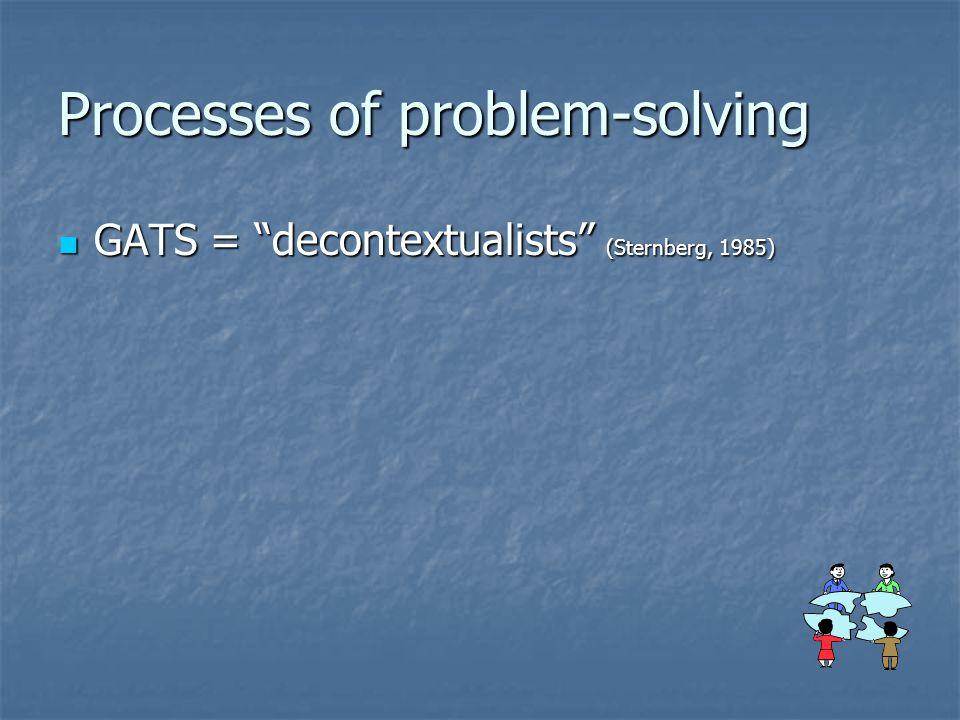 Processes of problem-solving