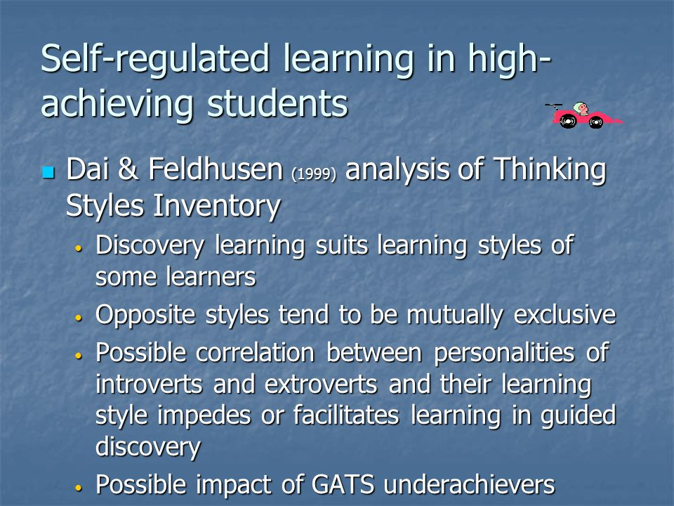Self-regulated learning in high-achieving students