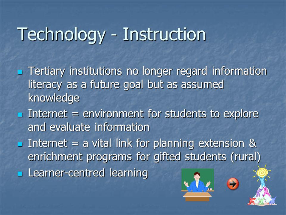 Technology - Instruction