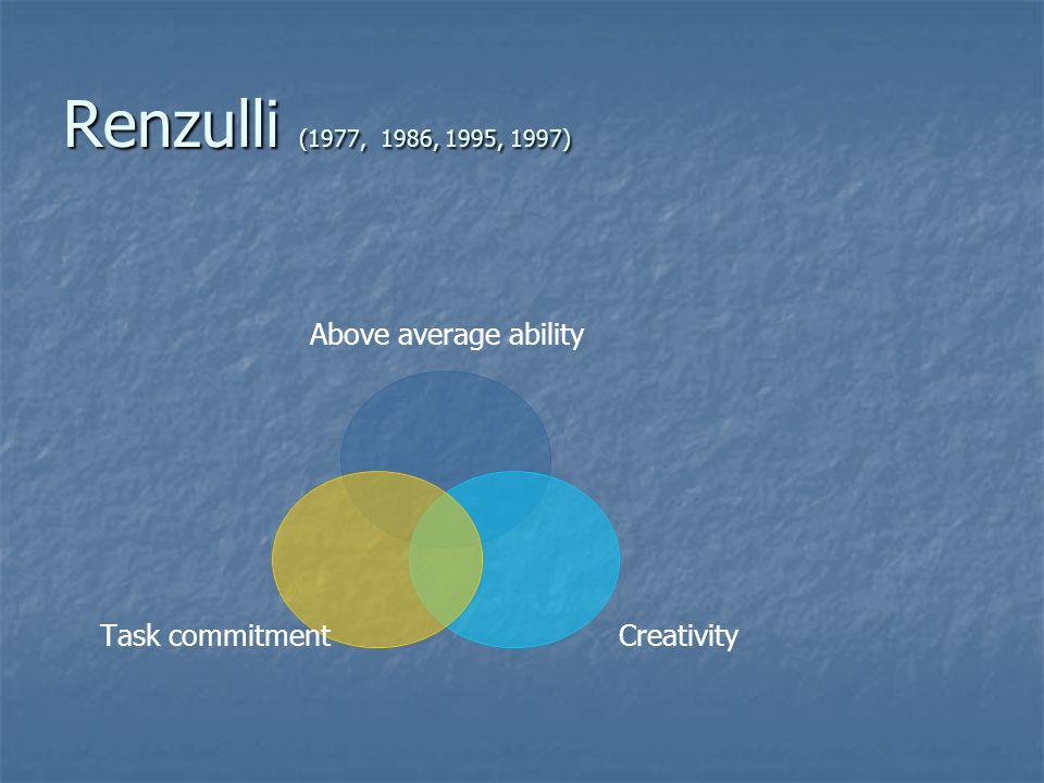 Renzulli (1977, 1986, 1995, 1997)