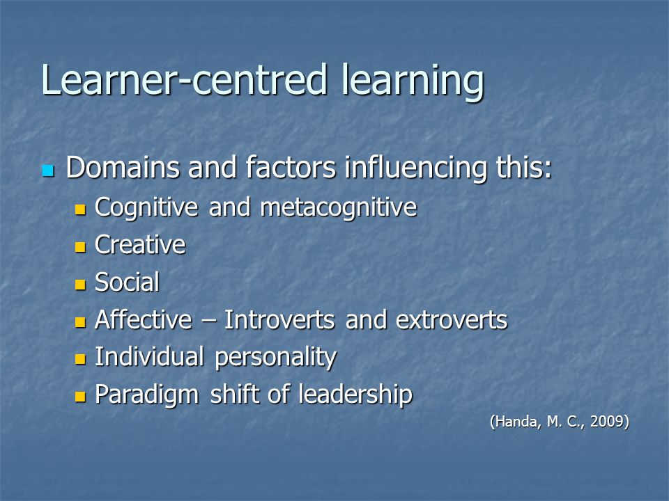 Learner-centred learning
