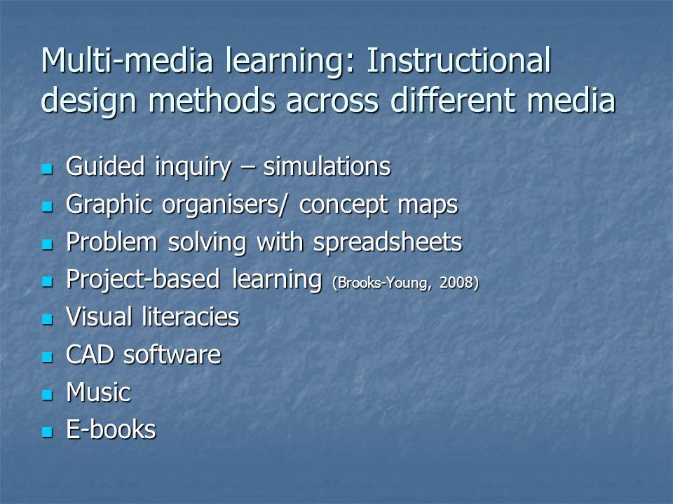 Multi-media learning: Instructional design methods across different media