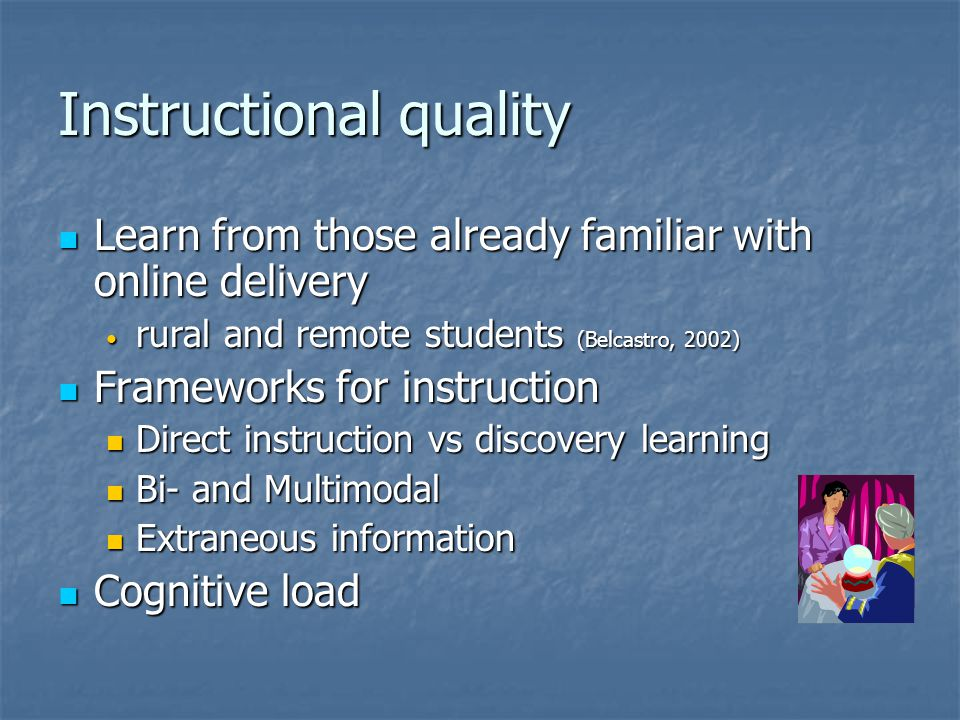 Instructional quality