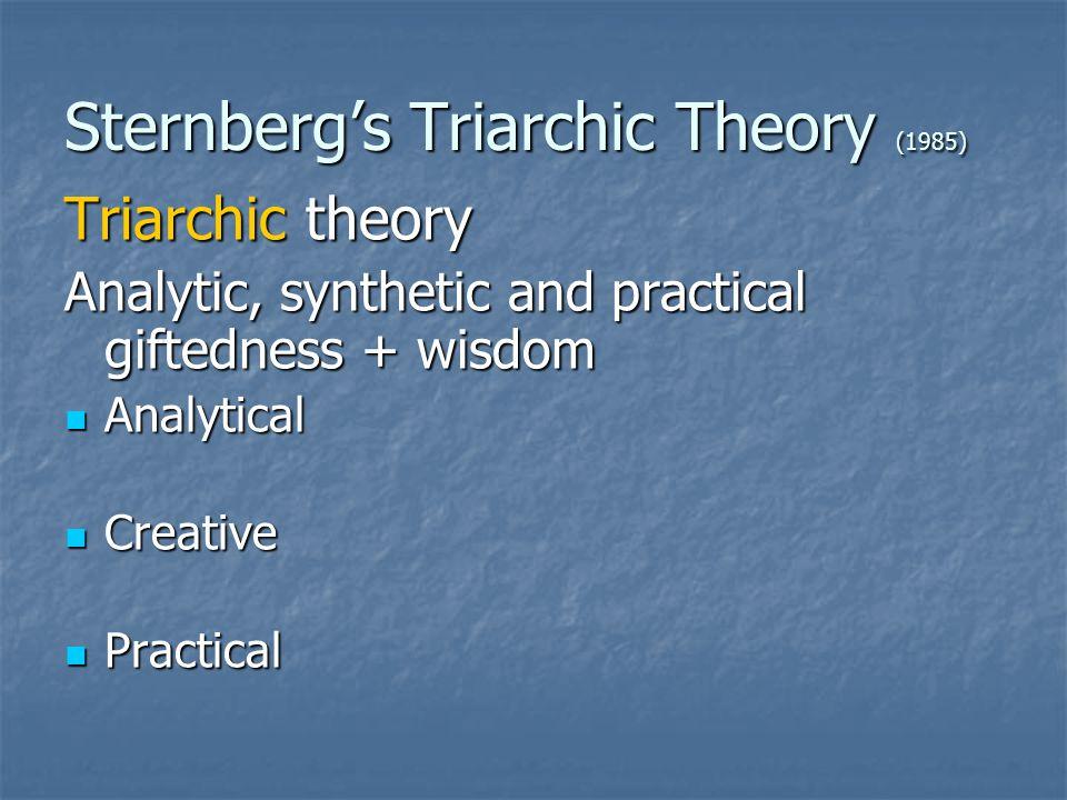 Sternberg's Triarchic Theory (1985)