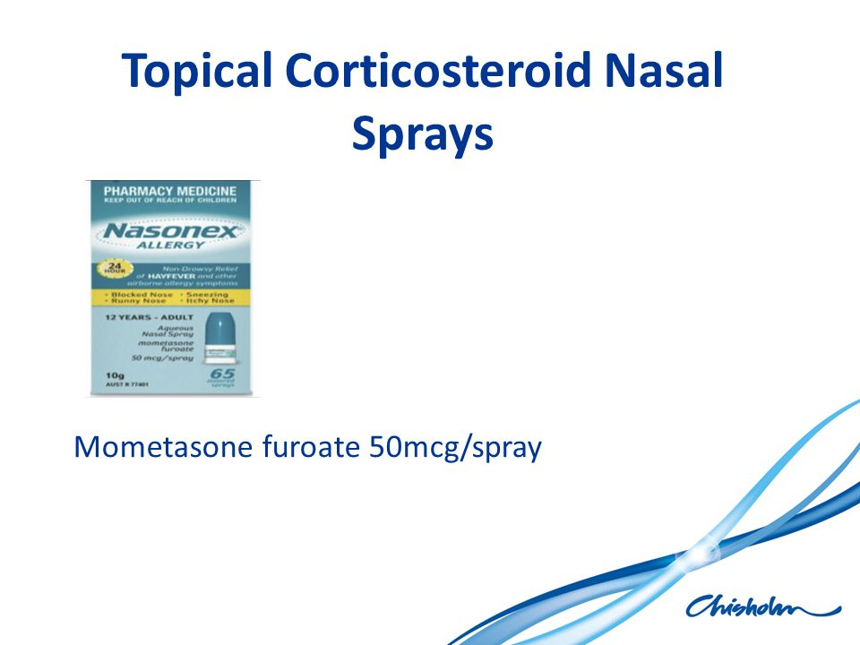 Topical Corticosteroid Nasal Sprays