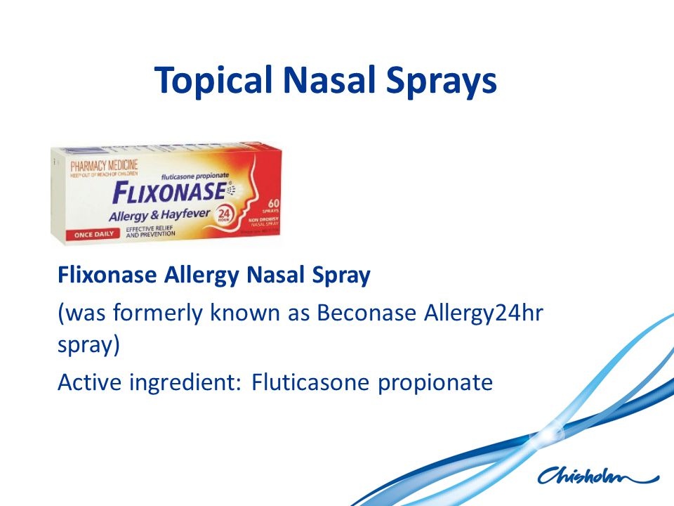 Topical Nasal Sprays Flixonase Allergy Nasal Spray
