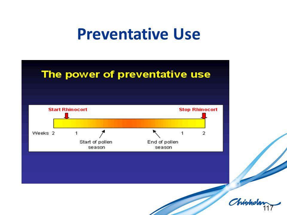 Preventative Use