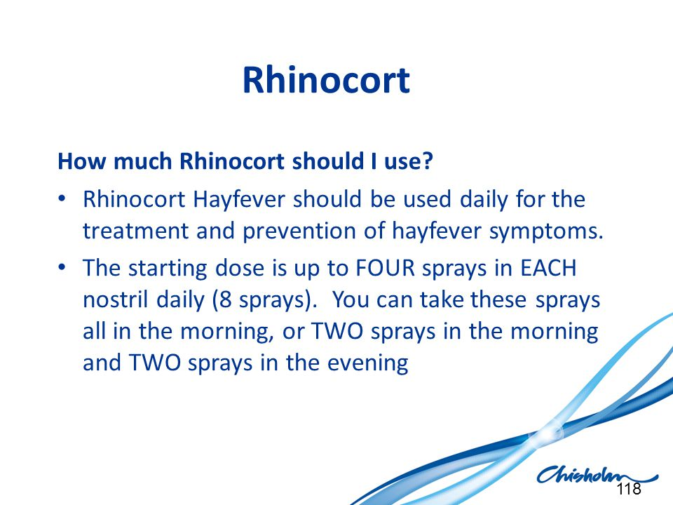 Rhinocort How much Rhinocort should I use
