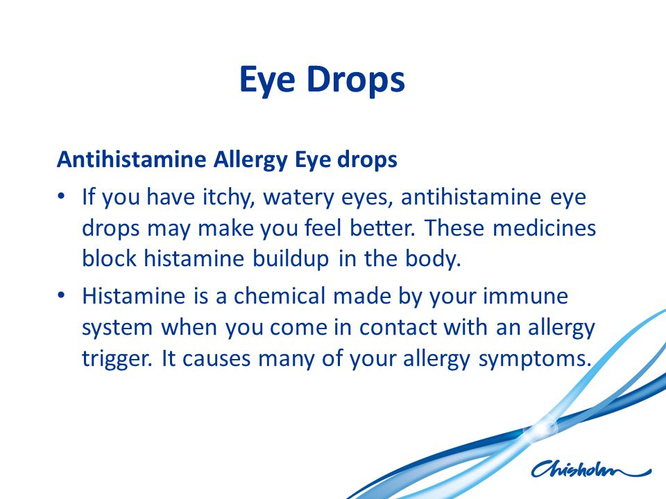Eye Drops Antihistamine Allergy Eye drops