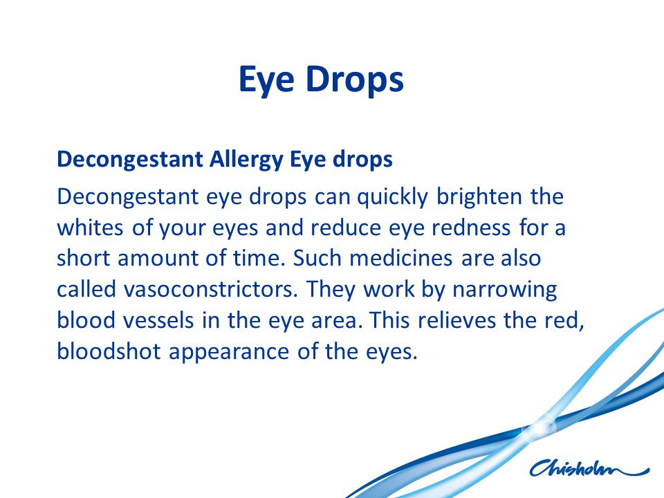 Eye Drops Decongestant Allergy Eye drops