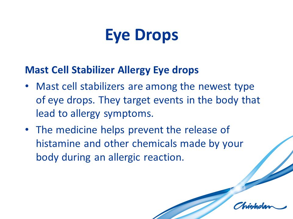 Eye Drops Mast Cell Stabilizer Allergy Eye drops