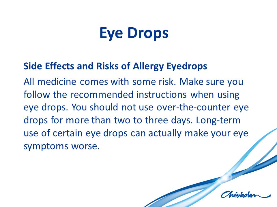 Eye Drops Side Effects and Risks of Allergy Eyedrops