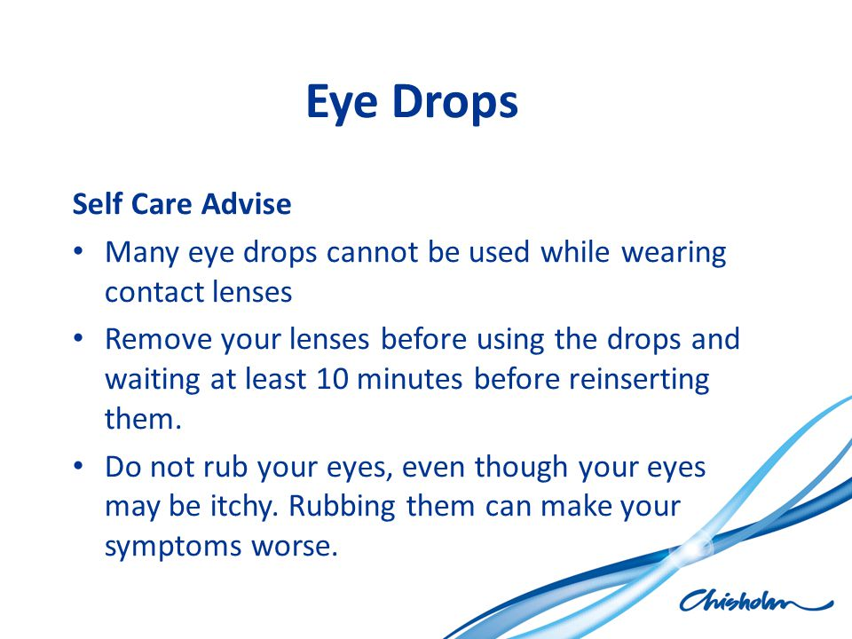 Eye Drops Self Care Advise