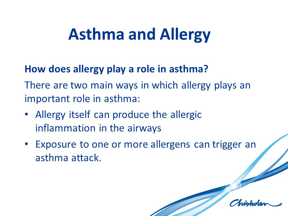 Asthma and Allergy How does allergy play a role in asthma