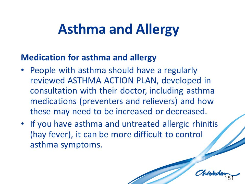 Asthma and Allergy Medication for asthma and allergy