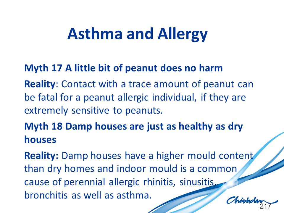 Asthma and Allergy Myth 17 A little bit of peanut does no harm