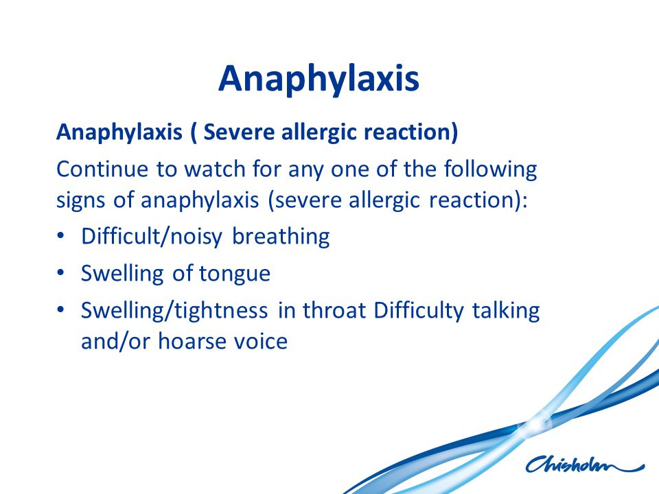 Anaphylaxis Anaphylaxis ( Severe allergic reaction)
