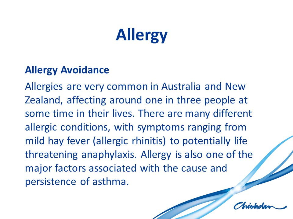 Allergy Allergy Avoidance