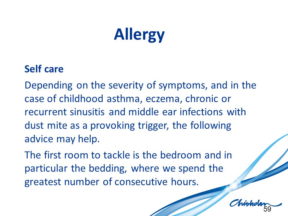 Allergy Self care.