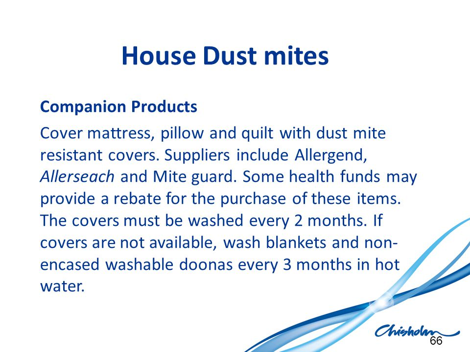 House Dust mites Companion Products
