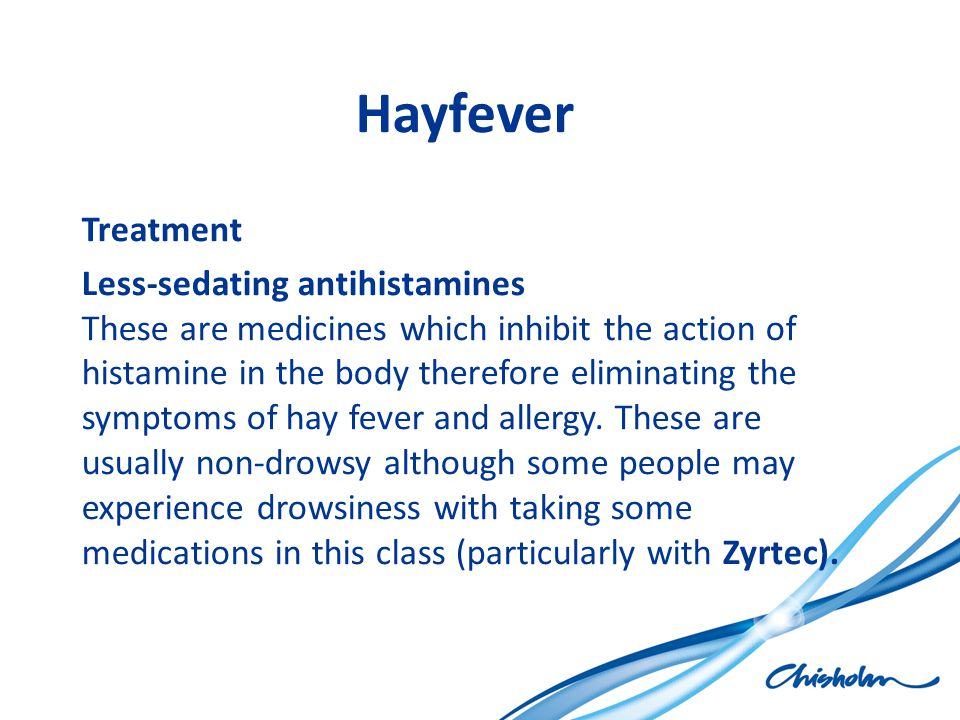 Hayfever Treatment.