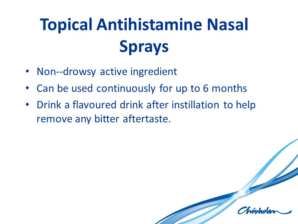 Topical Antihistamine Nasal Sprays