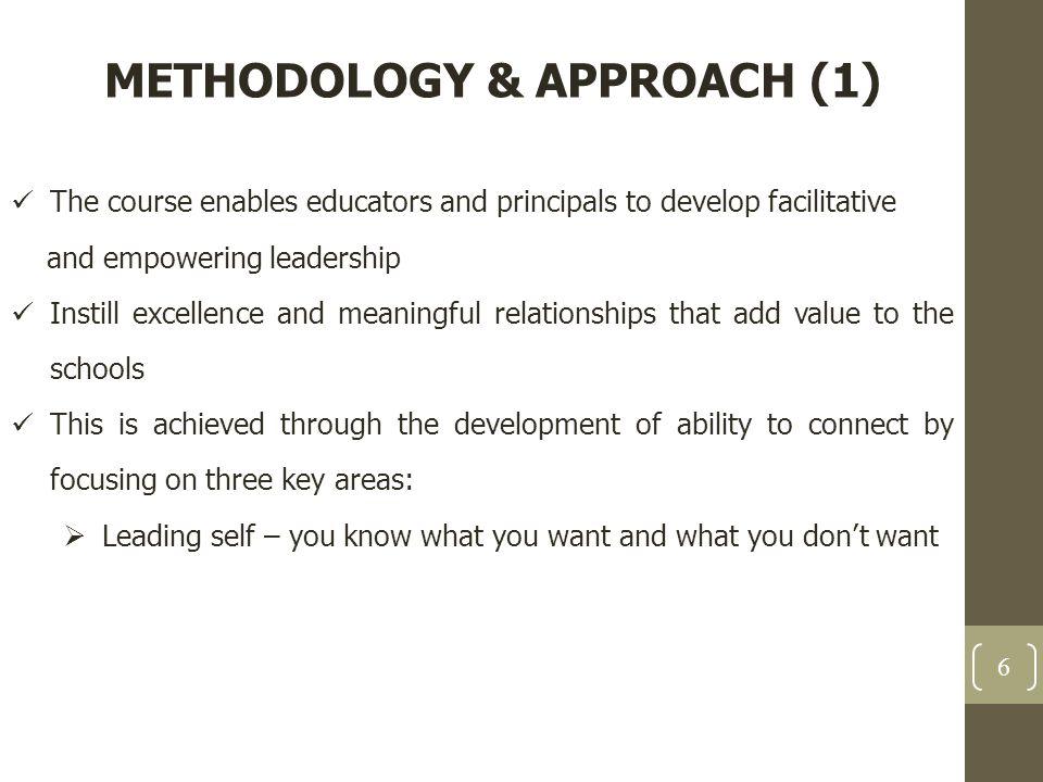 METHODOLOGY & APPROACH (1)