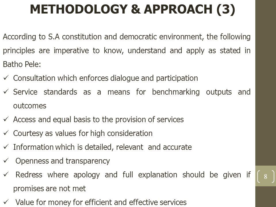 METHODOLOGY & APPROACH (3)