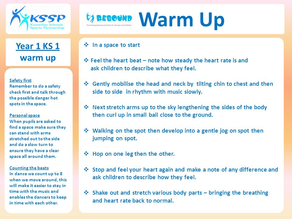 Warm Up Year 1 KS 1 warm up In a space to start