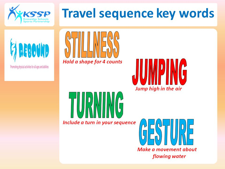 Travel sequence key words