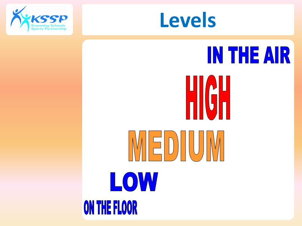 Levels IN THE AIR HIGH MEDIUM LOW ON THE FLOOR 52