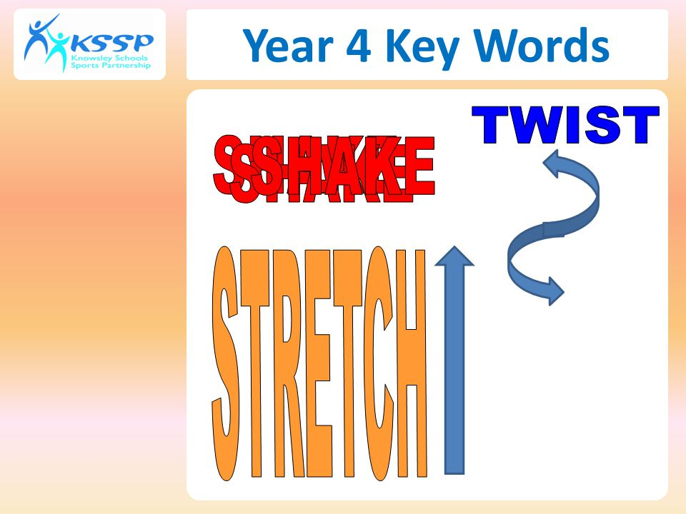 Year 4 Key Words TWIST SHAKE SHAKE SHAKE STRETCH 53